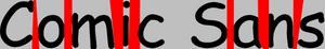 Comic Sans espacio entre letras