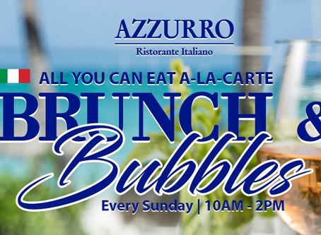 All you can eat A-LA-CARTE  Brunch & Bubbles at Azzurro Ristorante Italiano for $31 p/p
