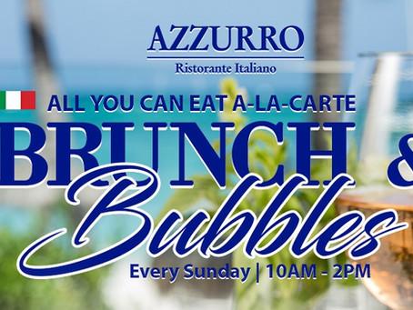 Sunday A-LA-CARTE  Brunch & Bubbles at Azzurro Ristorante Italiano for $31 p/p!