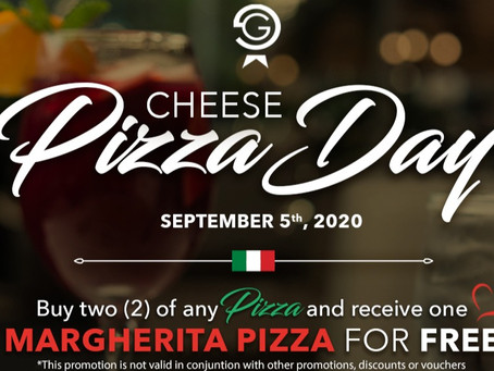 Cheese Pizza Day with Gianni's Group September 5th! Don't miss out for your FREE Margherita Pizza!