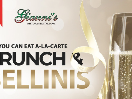 BRUNCH & BELLINIS at Gianni's Ristorante Italiano! New Brunch menu for the month of August!
