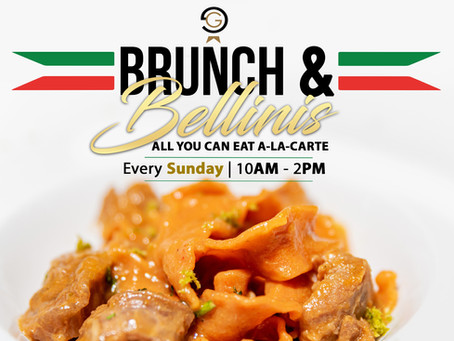 NEW Brunch & Bellinis Menu at Gianni's Ristorante Italiano! Join us this this Sunday 10:00am-2:00pm