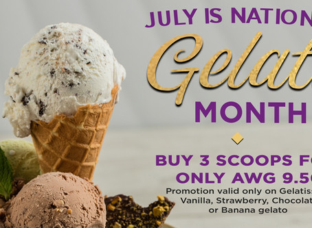 In the must-have list of desserts, gelato is on top! Especially for the month of July! 📢