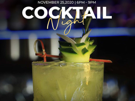 Cocktail Night at Azia Restaurant & Lounge November 25th! Book your spot today!
