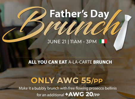 The Sunday Brunch DAD Deserves! Choose between Azia Restaurant & Lounge and Gianni's Ristorante 🇮🇹