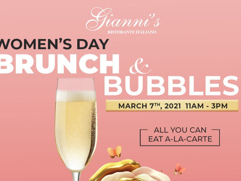 Celebrate the women in our lives! Our famous BRUNCH & 𝐁𝐞𝐥𝐥𝐢𝐧𝐢𝐬 with a new Brunch Menu!