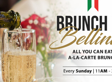Rise & Shine with us this Sunday at Gianni's Ristorante Italiano! All you can eat A-LA-CARTE Brunch.