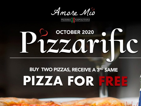 Pizzarific at Amore Mio! Entire MONTH of October!