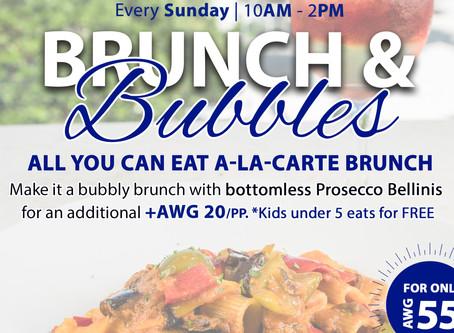 Brunch & Bubbles with an Ocean View at Azzurro Ristorante Italiano! All u can eat A-LA-CARTE.
