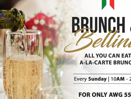 Brunch and Bellinis EVERY SUNDAY 10:00am - 2:00pm at Gianni's Ristorante Italiano.