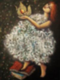 Physalis(s'ouvir au jour), 36 x 48 pouce