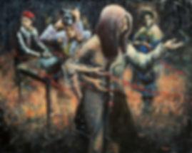 Numen, acrylique sur toile, 24 x 30 pouc