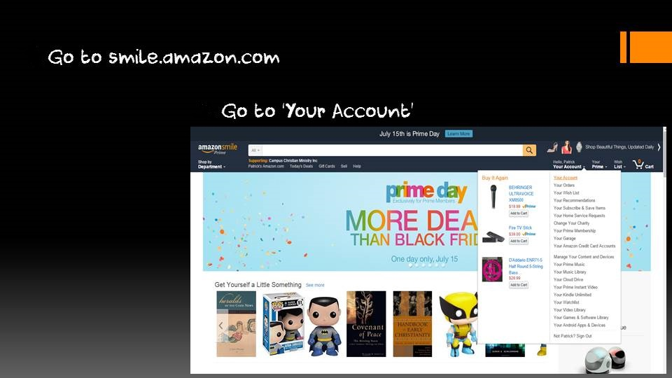 Amazon Smile Slide 1