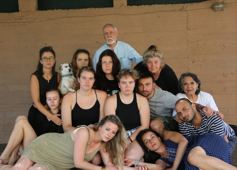 "Arya Landers in cast photo for ""From Antigone to Medea"""