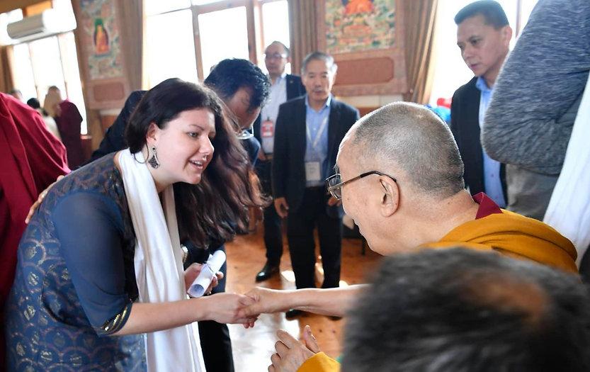 Arya Landers  & Dalai Lama
