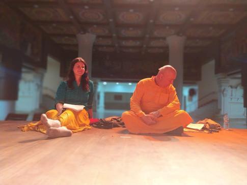 Arya Landers as The Narrator - The Gita (rehearsals