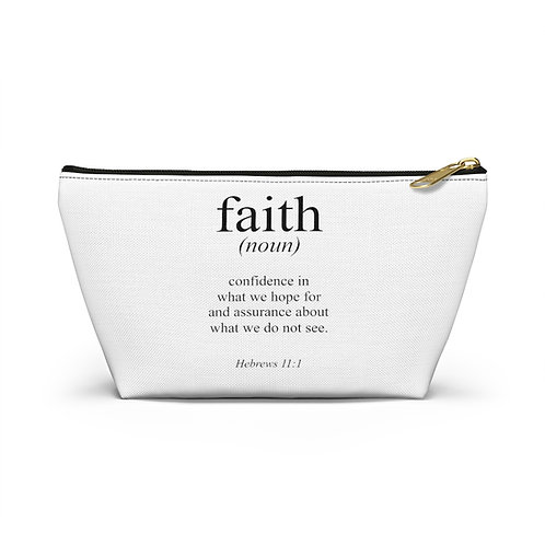 Faith Accessory Pouch w T-bottom