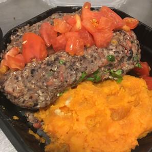 Vegan Meatloaf & Sweet Potatoes