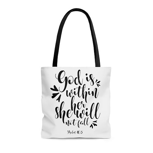 God is...AOP Tote Bag
