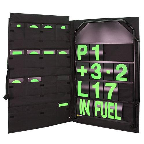 B-G Racing - Large Black Aluminium Pit Board Kit | BGR250BLA