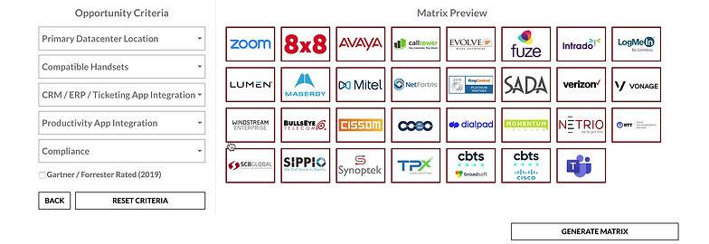 UCaaS vendor & solution matrix