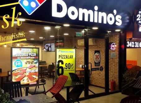 Dominos Pizza Tuğla Kaplama