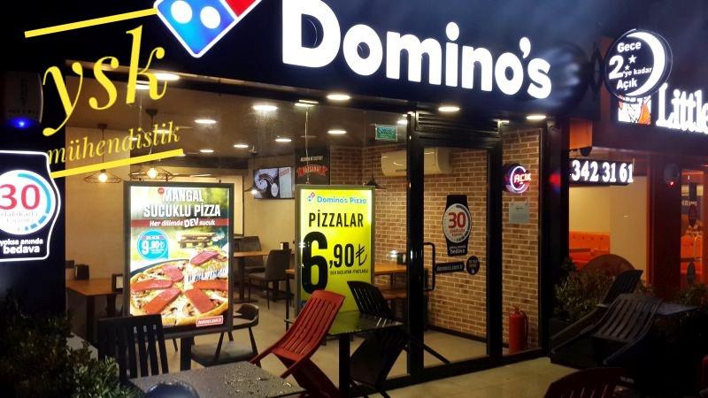 Dominos Pizza Tuğla Kaplama- YSK Mühendislik