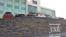 Stonewrap Taş Kaplama - Acıbadem Hastane Cephesi Taş Kaplaması