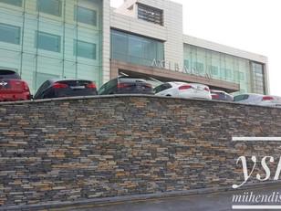 Taş Kaplama - Acıbadem Hastane Cephesi Stonewrap Taş Kaplaması