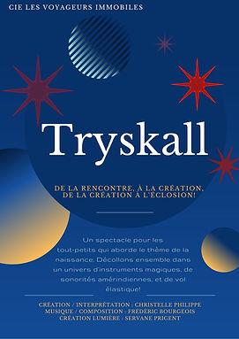 affiche Tryskall cie Les Voyageurs Immob