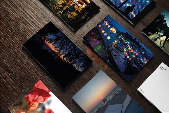 """Collection de 10 cartes photographiques """"A l'heure bleue"""""""