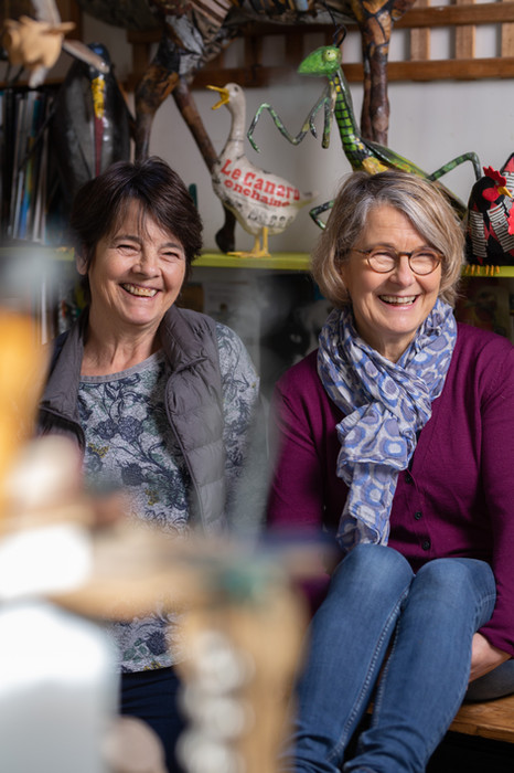Aude et Nicole, les soeurs sculptrices qui préfèrent Le Monde animal.
