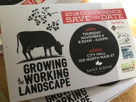 Growing the Working Landscape Conference Moves to Franklin County