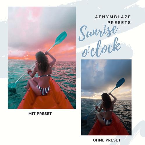 SUNRISE O'CLOCK - PRESET