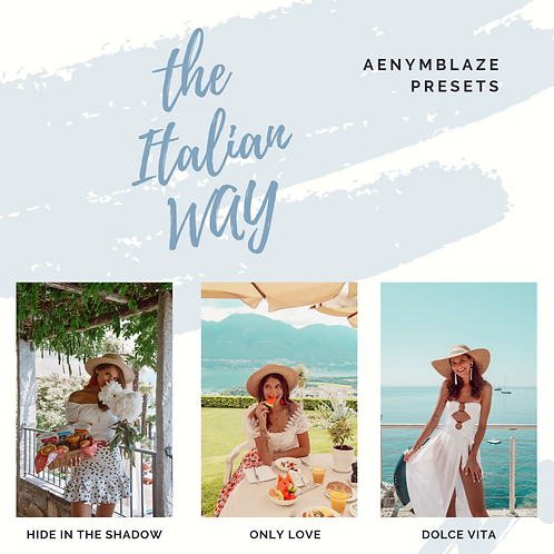 the ITALIAN way - PRESET PACK