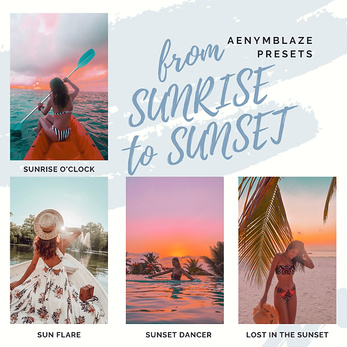 from SUNSET to SUNRISE - PRESET PACK