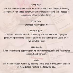 Olaplex hair treatment step by step