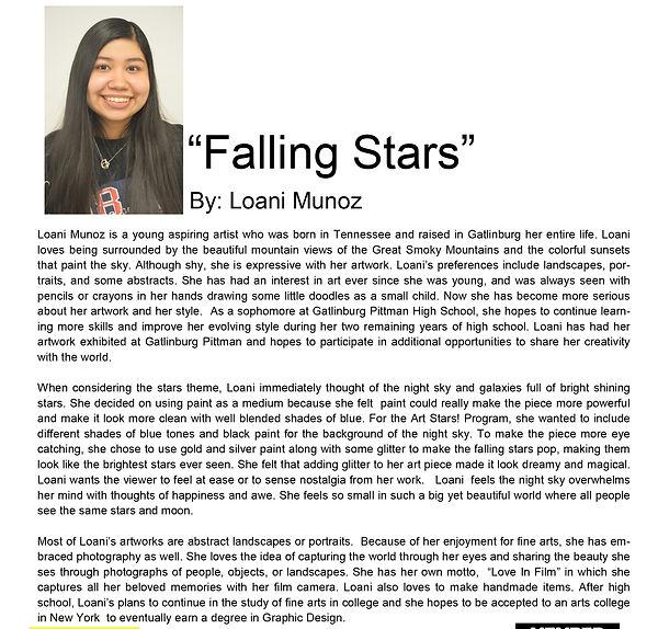 Artist bio spring semester Loani Munoz.j