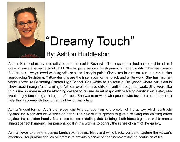 Artist bio spring semester Ashton Huddle