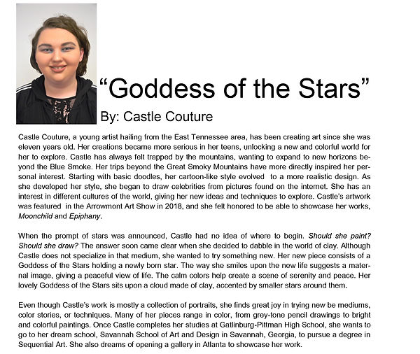 Artist bio spring semester Castle Coutur