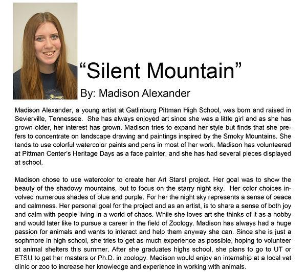 Artist bio spring semester Madison Alexa