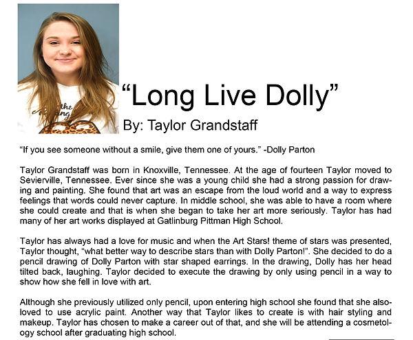 Artist bio spring semester Taylor Grands