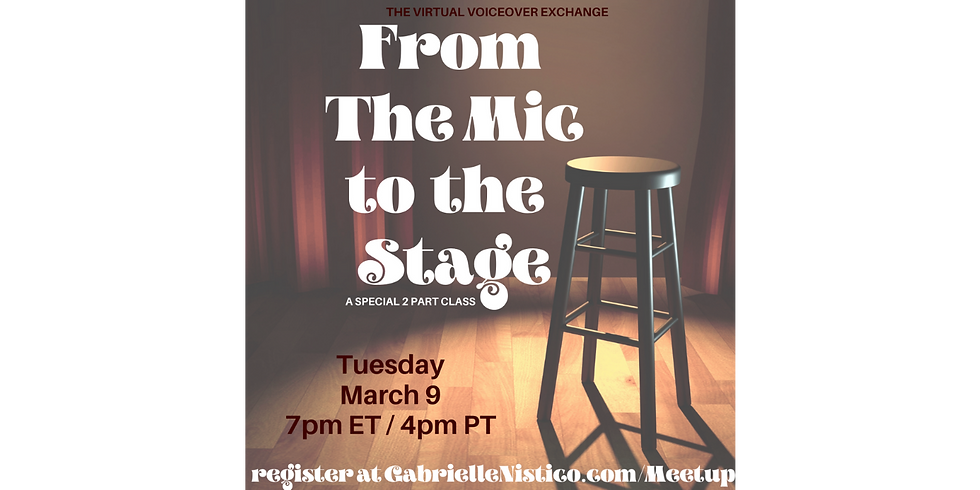 From the Mic to the Stage - with an all-star panel!