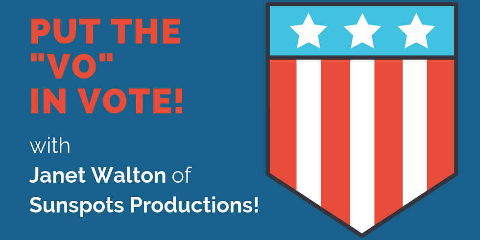 Put the VO in VOTE! with Political Voiceover