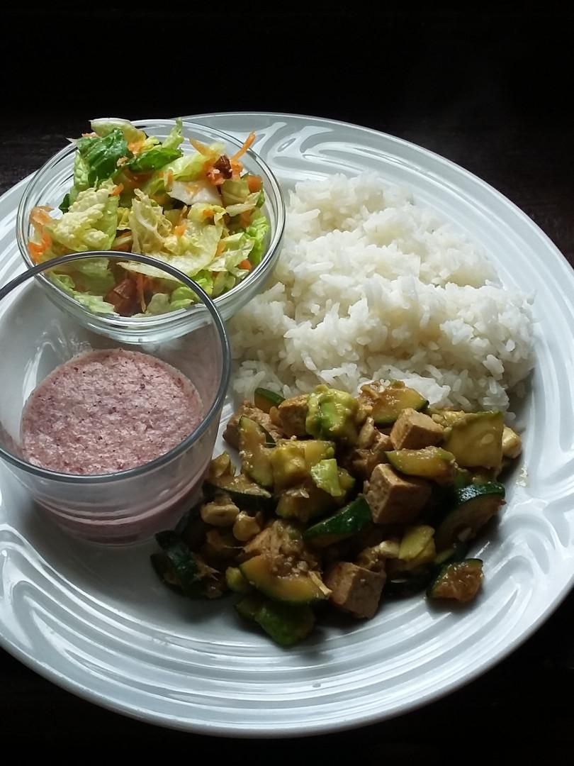 Asian tofu on ginger & honey lemon sauce.jpg