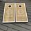 Thumbnail: Personalised stained cornhole boards and 8 x throwing bags