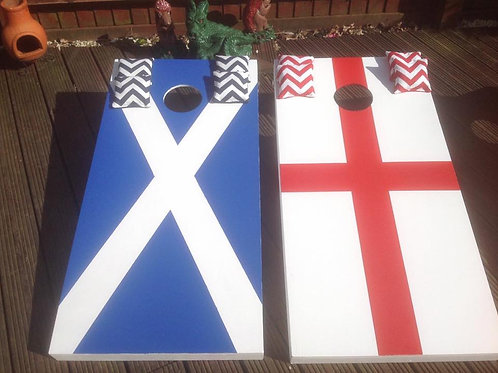 Scottish and St George cross flags large game