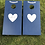Thumbnail: Medium Vintage Mr and Mrs cornhole boards and 8 x throwing bags