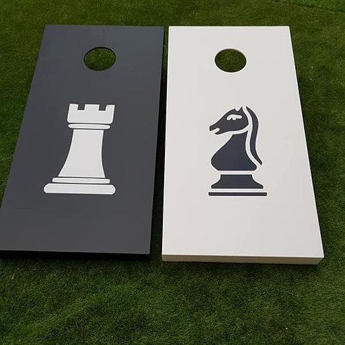 Chess Piece design large cornhole game