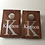 Thumbnail: Stained personalised cornhole boards with 8 x throwing bags